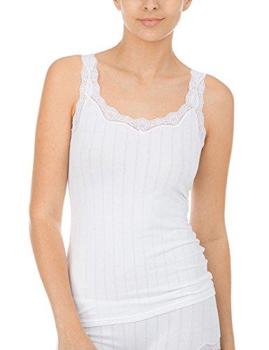 CALIDA Damen Etude Toujours Top ohne Arm Unterhemd, Weiß (Weiss 001), 36 (Herstellergröße: S)
