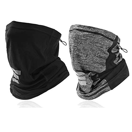 LANVO UV Protection Neck Gaiter, Adjustable Cooling Neck Gaiter for Men and Women, Dust Bandana for Outdoor Running, Hiking, Cycling