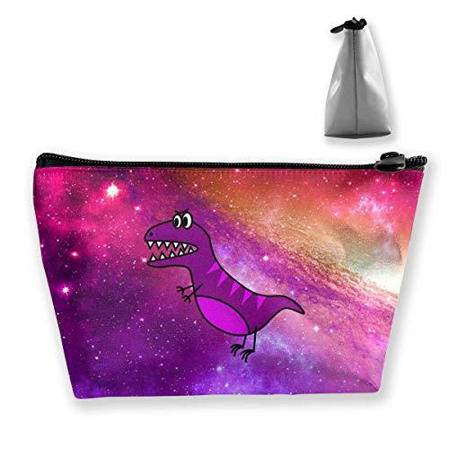 Dinosaur Simple T-REX Sac de rangement de maquillage portable avec grande capacité Sac de lavage à main