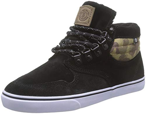 Element Jungen Y Topaz C3 Mid Sneaker, Schwarz (Black Camo 1451), 35.5 EU