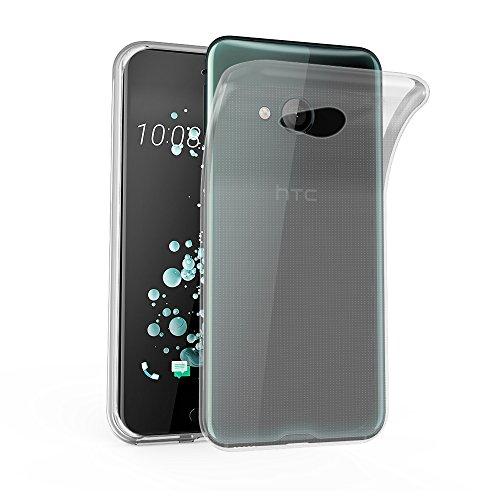 Cadorabo Hülle für HTC U Play - Hülle in VOLL TRANSPARENT – Handyhülle aus TPU Silikon im Ultra Slim 'AIR' Design - Silikonhülle Schutzhülle Soft Back Cover Hülle Bumper