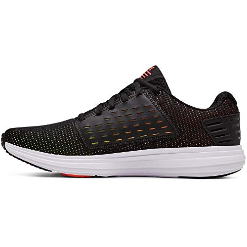 Under Armour Men's Surge SE Running Shoe, Black (004)/Orange Glitch, 11