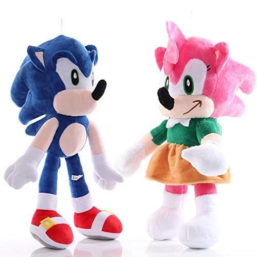 Sonic The Hedgehog 2pcs de Peluche de Juguete sonoro Juguetes de Peluche de la muñeca de la Sombra sónica Felpa Suave for niños de los niños WTZ012