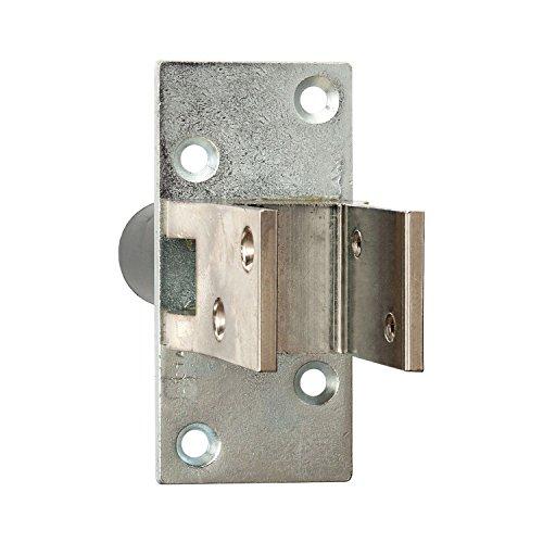 Tope para puerta de péndulo (90°, TS 19 – 24 mm, latón niquelado, herraje para puerta basculante)