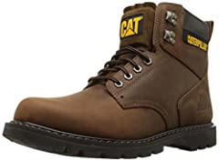 Lace-up soft-toe work boot in leather featuring hex-shape grommets, speed lacing shaft, and plush logoed collar Goodyear welt construction Nylon sockliner and lining Oil-resistant traction outsole