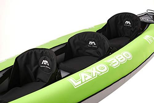 AM AQUA MARINA Set de Kayac Inflable para 2 – 3 Personas LAXO-380 2020 12'6''Canoa Piragua, Bomba, Bolsa 380 x 95 cm… 1