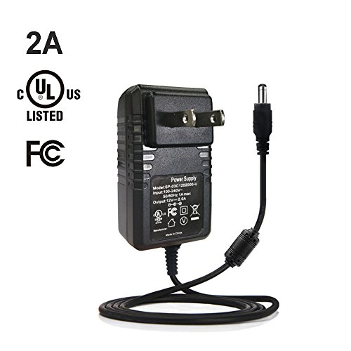 YGS-Tech 24W 12 Volt LED Light Strip Power Supply, AC 100-240V to DC 12V Power Adapter for LED Strip Light, 2A Max, UL-Listed