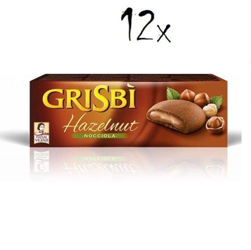 12x Vicenzi Grisbi Nocciola Kekse mit haselnuss creme150g riegel biskuits kuchen