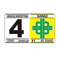 ハワイアン Hawaiian 車検 レプリカ ステッカー 4月