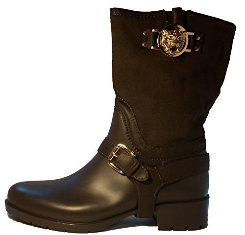 3-W-Hohenlimburg Extravagante Hardcore Piratenstiefel mit schöner Verzierung, Damenschuhe, Schuhe für Damen. Ganzjahres - Stiefel. EIN ganz besonderer Allwetterstiefel. Braun. STI104B. Größe 39.