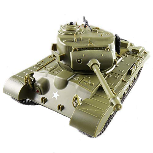 POCO DIVO Pershing M26 US Heavy Tank RC Infrared Battle Panzer 2.4Ghz 1/30 Scale Model Military Vehicle w. Sound Lights