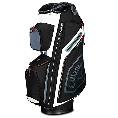 Callaway Golf 2019 Chev Org Cart Bag, Black/Titanium/White
