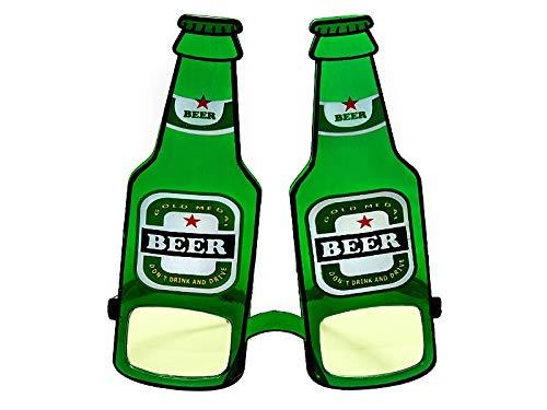 Partybrille verschiedene Motive für Damen und Herren Kostüm Fasching Karneval Mottoparty Sonnenbrille Party Gadget lustig accessoires Partydeko lustige Bier Saufen Augen led Brille Bierflaschen