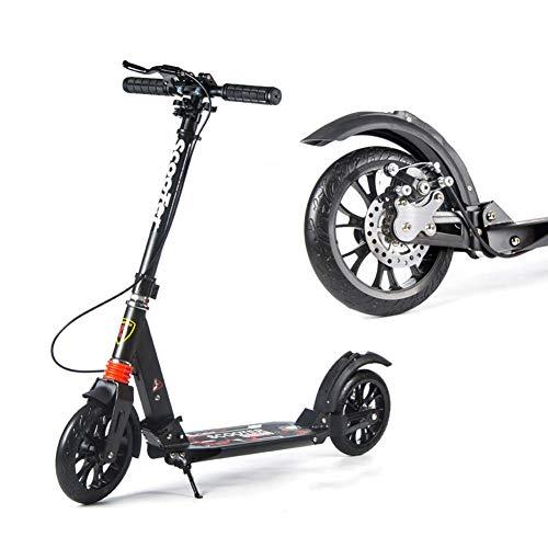 Relaxbx Unisex Adult Kick Scooters met Schijf Remmen, Opvouwbare Commuter Scooters met Grote Wielen, Verjaardagscadeaus voor Vrouwen/Mannen/Tieners/Kinderen, Niet-Electrisch, Tot 100 kg