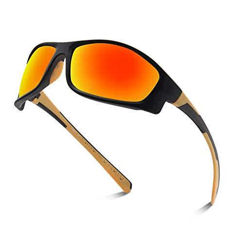 OULIQI Gafas de ciclismo polarizadas deportivas con protección UV para hombre y...