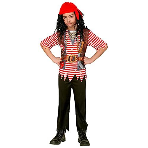 WIDMANN 99037 99037 - Disfraz infantil de pirata, camisa, pantalón, bandana, pirata, bandito, fiesta temática, carnaval, niño, multicolor, 140 cm/8-10 años