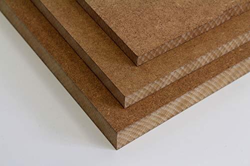 MySpiegel.de Tischplatte Holz Zuschnitt nach Maß Holzzuschnitt MDF Platte in 8/12 / 16/19 / 22 / 25mm (120 x 60 cm, 25mm Stärke)