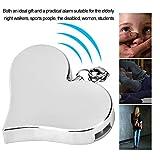 130DB Alarma de Ataque de Alarma Personal en Forma de corazón Alarma de Seguridad Personal Llavero Sirena de autodefensa de Emergencia (Rosa)(Plata)