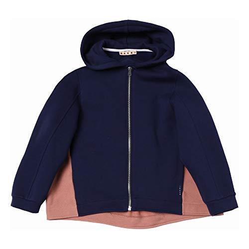 Marni Girls Cotton Fleece Zip Hoodie Sweatshirt Jacket (8) Navy Blue