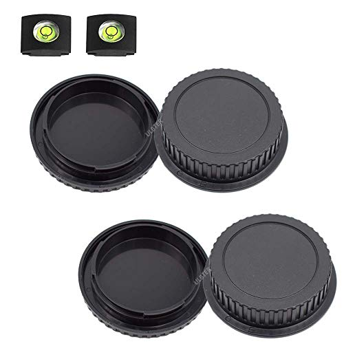 Front Body Cap and Rear Lens Cap Cover for Canon EOS EF/EF-S Lens for 5D Mark IV/III/II, 6D Mark II/I, EOS 90D/80D 77D 70D, 7D Mark II, 1D X Mark II, Rebel T7 T6 T7i T6i SL3 SL2 T6S