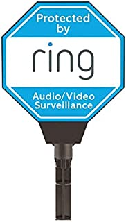 Ring Solar Security Yard Sign, Blue