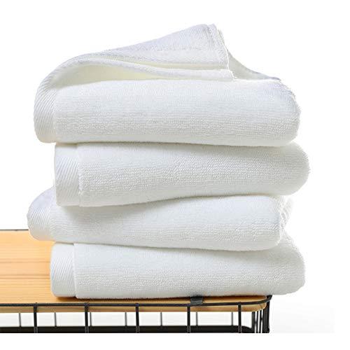 Toallas de mano Mettime, 100% algodón peinado con hilado de anillo, ultrasuaves y absorbentes, grandes toallas gruesas, toallas de mano de calidad de hotel y spa (4 unidades)