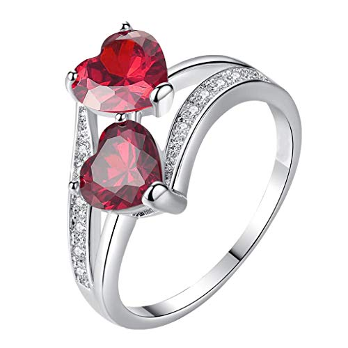 Ring for Women C ubic Diamond E ternity Engagement Wedding Band Gift Rings, Rings, Products for Xmas Day (E)