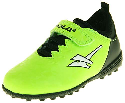 Gola Astro Turf Kinder Sportschuhe mit Schnürung, Fußballschuhe, Grün - Lime Black Aka883 - Größe: 25 EU