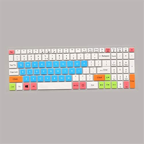 Keyboard Cover Protector Keyboard Protective Cover skin Protector for 15.6' Acer NITRO 5 AN515-52 AN515 AN5 VX 15 VX5-591G V 17 Gaming VN7-793G 17.3 Washable ,Reusable, (Color : Candyblue)