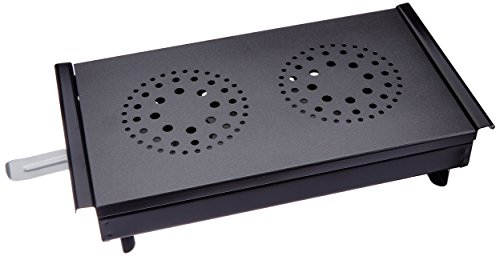 Kitchen Craft Master Class Professional Food Warmer and Plate Warmer with 2 Tealights, Black/Grey
