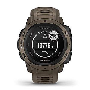 Garmin Instinct Tactical Edition GPS Watch and Wearable4U 2200 mAh Power Bank Bundle (Tactical Coyote Tan)