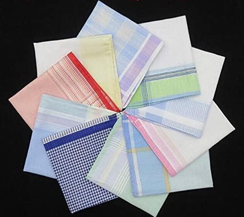 SushiSwap 10PCS Lady Plaid Handkerchief Hand Towels Women Wedding Party Cotton Handkerchiefs Ladies Mendil Zakdoek Katoen Chustki H08 - 736800