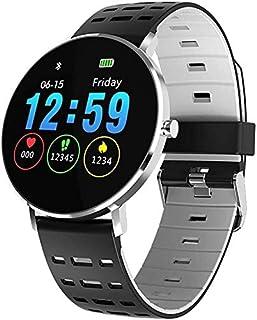 WJFQ Reloj Inteligente SmartWatch for Mujer Hombre Pulsera Fitness Actividad Tracker for Android iOS con el Ritmo cardíaco y la presión del sueño Monitores Monitor de Sangre (Color : Silver Grey)