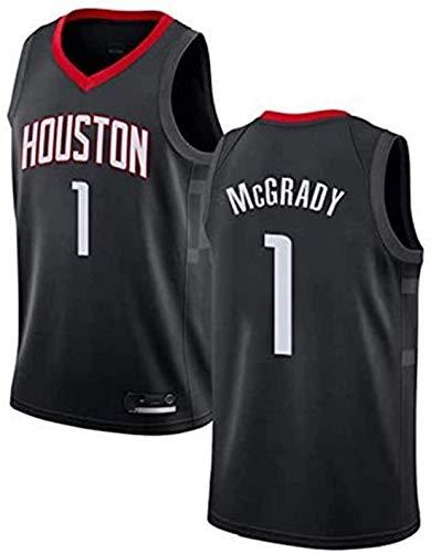 WHYYT Jerseys de Hombres - NBA Houston Rockets # 1 Tracy McGrady Basketball Jersey, Chaleco sin Mangas Bordado clásico,L(175~180CM/75~85KG)
