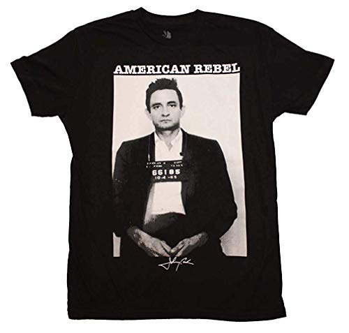 LMXOOL Johnny American Cash Rebel Mugshot T-Shirt Black