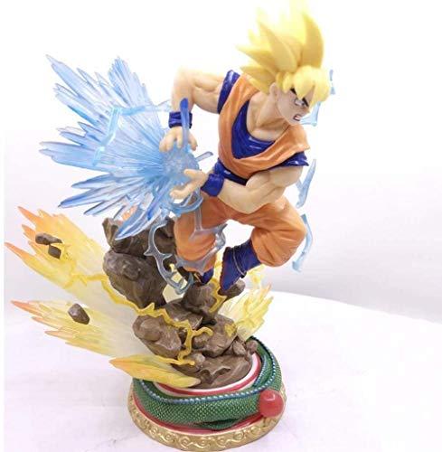 Figuras Dragon Ball Son Goku Super Saiyan PVC Cambiar Cabeza Estatua Estatua Estatua Estatua Estatuilla Colección Muñeca 25 cm