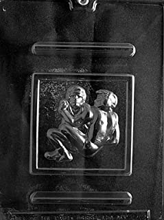 Cybrtrayd S058 Sports Chocolate Candy Mold, Wrestling
