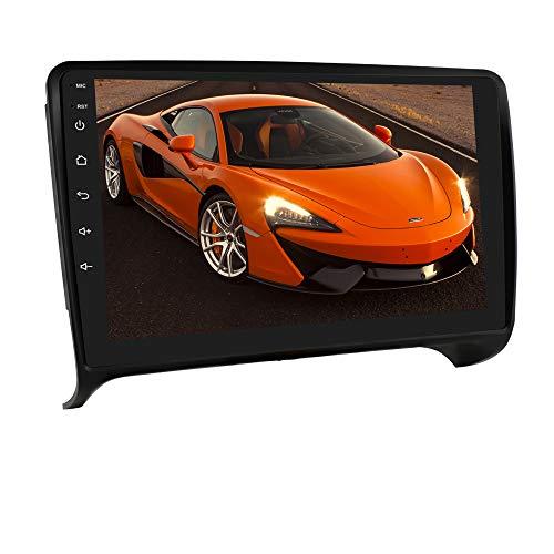 Autoradio Stereo con touch screen da 9 pollici adatto per Audi TT2 2006-2014, sistema Android 10 Supporta navigazione GPS WiFi EQ Connessione USB SWC Connessione telecamera retrovisiva Bluetooth