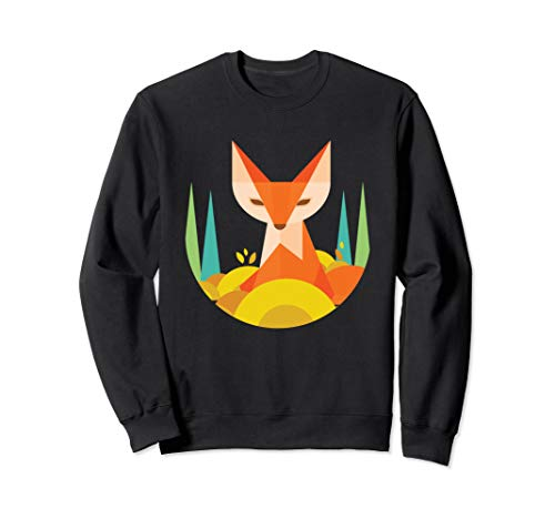 Fraktale geometrische Fox Animal Wildlife Graphic Sweatshirt