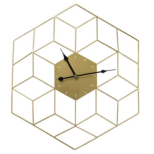 Teakpeak Reloj de Pared XL, 60cm Reloj de Pared Vintage Silencioso Dorado...
