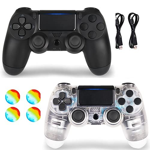 2 Pack Wireless Controller for Remote for Sony with 2 Pack Charging Cable