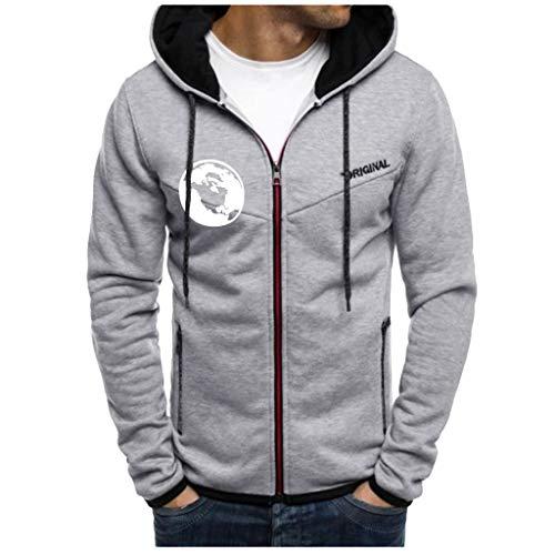 Yowablo Herren Hoodie Kapuzenpullover Hood Casual Streetwear Sweatshirt Spleißen...