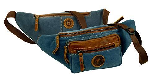 LANDLEDER Luxus Leder Jeans Denim Herren Gürteltasche Bauchtasche Damen Hüfttasche präsentiert von RabamtaGO® (Bauchtasche)