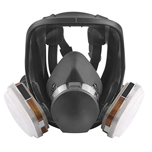 zinnor Full Face Respirator Organic Vapor Gas mask with Activated Carbon Respirator for Paint, Dust,...