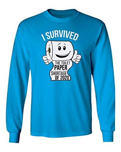 Sheki Apparel Coronavirus 2020 Toilet Paper Shortage Covid 19 Humor Men's Long Sleeve T-Shirt (Saphire, XX-Large)