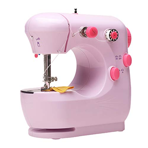 Sewing Machine Handheld Portable Electric Sewing Machines Adjustable 2-Speed with Foot Pedal for Kids Childrens Beginners Embroidery Machine for Home Sewing