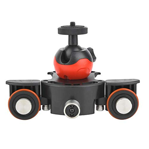 Mini Smart Slider eléctrico motorizado, 3Kg Cámara Video Track Dolly con Control Remoto, 1/4 ''/3/8 '' Rosca Soporte de Bola para teléfono/cámaras de acción