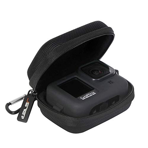 JSVER Tasche für GoPro Hero 10/9/8, Case Schutztasche für DJI Osmo Action Tragetasche Hülle für Gopro Hero 8/7/5/4/3 und GoPro-Zubehör Batteries Schwarz