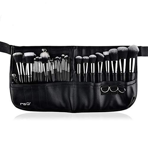 MSQ Make-up Pinsel Set 29pcs professionelle Make-up Pinsel mit Leder Bauchtasche, Foundation Pinsel, Puder Pinsel, Augen Pinsel, Lip Pinsel, Concealer Pinsel best for Schönheitskünstler