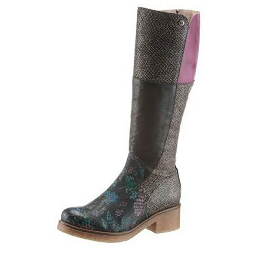 dkode Damen Stiefel Stiefelette Schuh Boots Schuhe Mehrfarbig Schwarz Leder : 36 EU